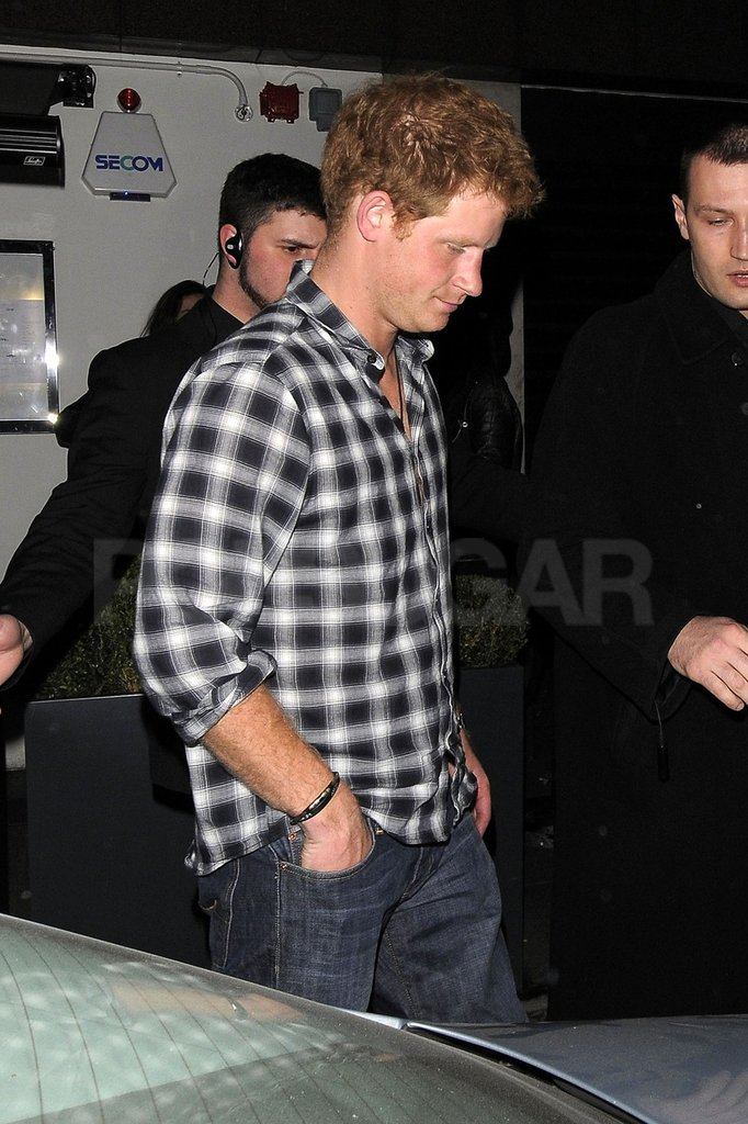Prince Harry went out in London.