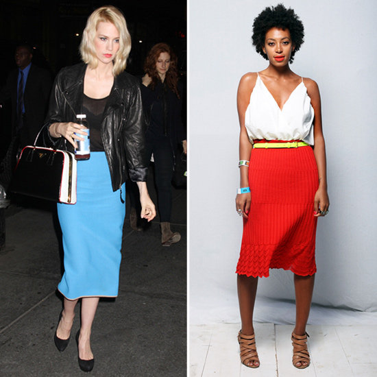 Two Fabulous Ways to Work a Bright Skirt Like January and Solange