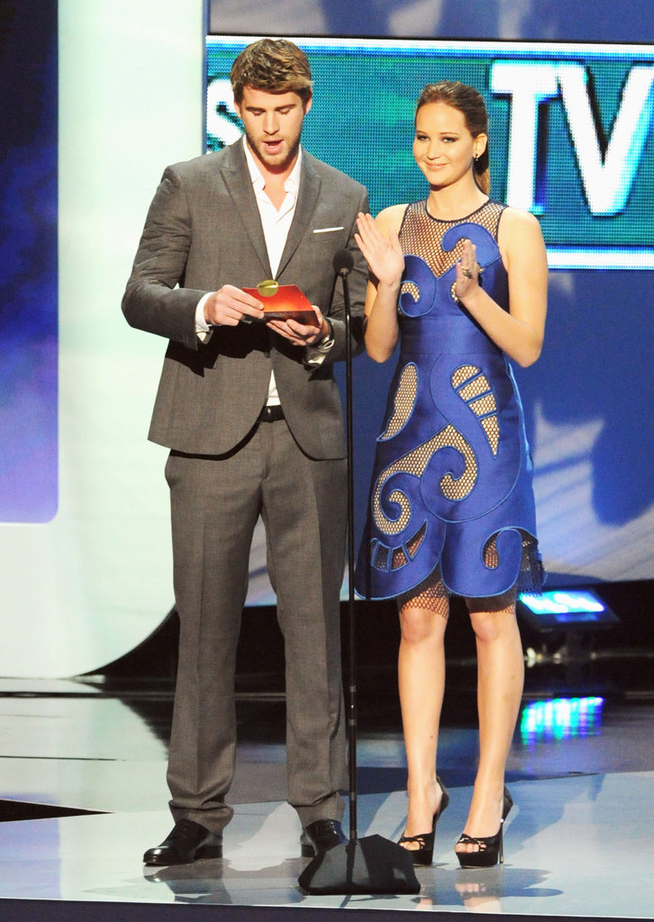 Jennifer Lawrence and Liam Hemsworth took the stage at the People's Choice Awards in January.
