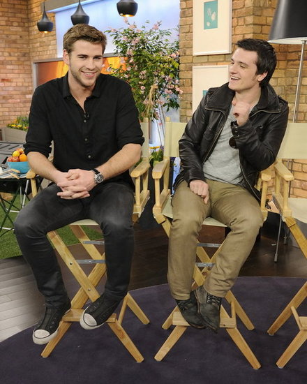 Liam Hemsworth and Josh Hutcherson joked around during their interview.