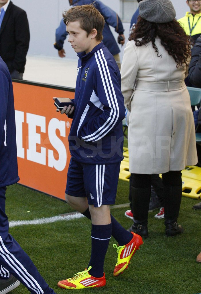 Brooklyn Beckham at the LA Galaxy game.