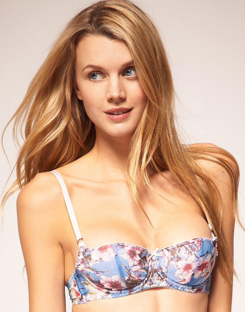 Even our bras are going floral — this one feels almost like a little piece of art.  Dirty Pretty Things Blossom Print Padded Bra ($174)