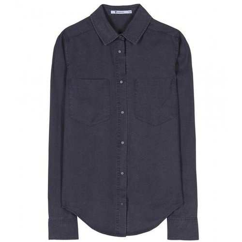 mytheresa.com - T by Alexander Wang - CHAMBRAY BUTTON DOWN - Luxury Fashion for Women / Designer clothing, shoes, bags