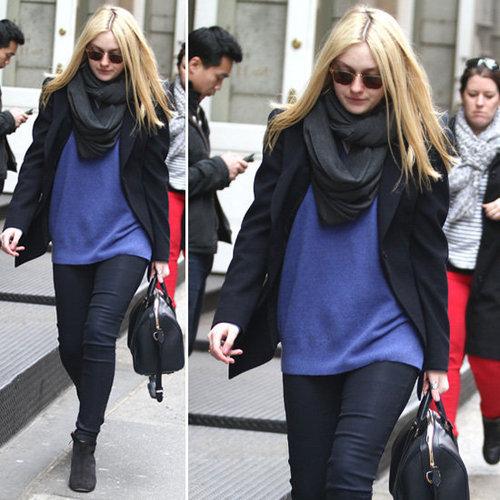 Dakota Fanning Wears a Colorful Sweater to Awaken Black