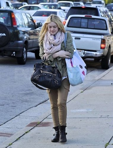 Dakota Fanning Layers Up