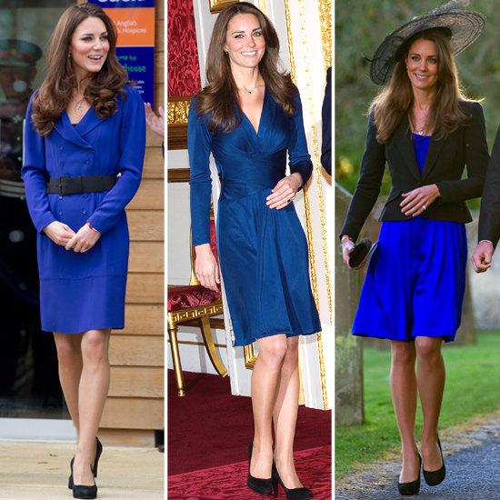 Синяя платье с чем носить