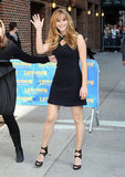Jennifer Lawrence Doubles Up on Dresses For the Late Show