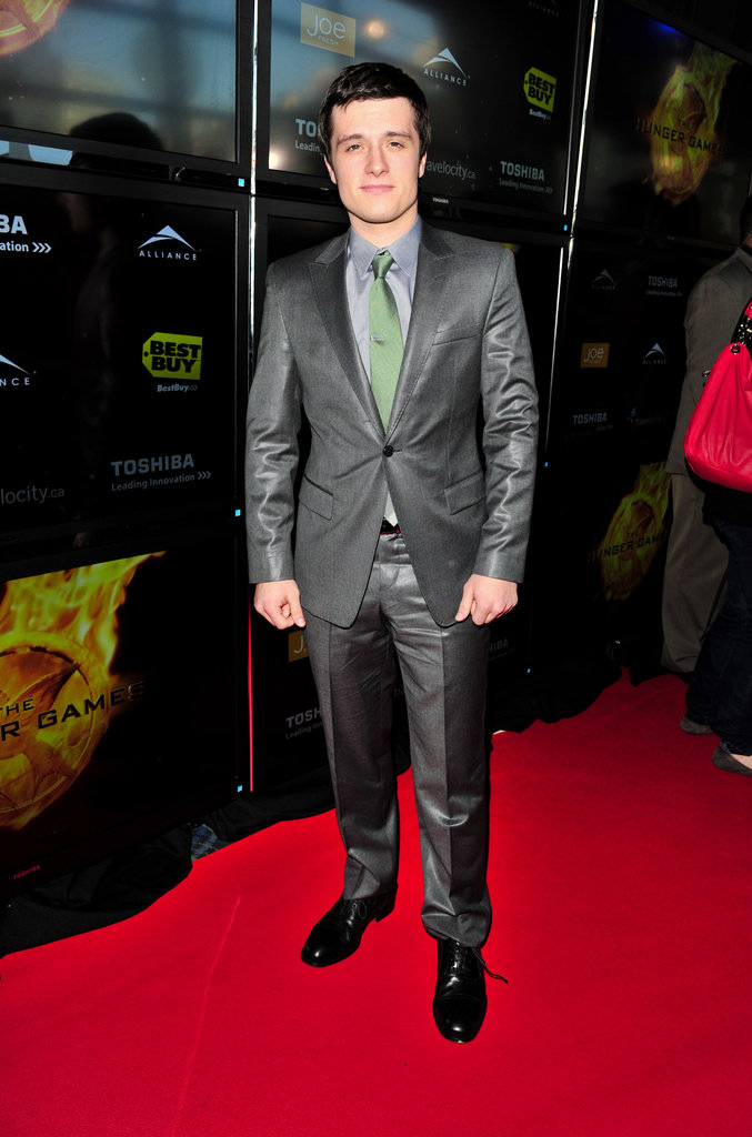Josh Hutcherson at the Hunger Games premiere in Canada.