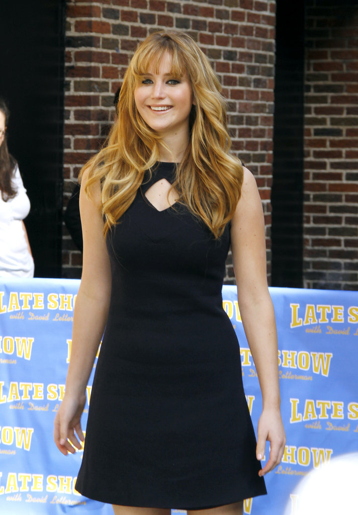 Jennifer Lawrence outside of The Late Show.