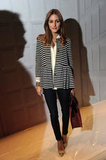 Olivia Palermo stayed chic in a pair of perfect-fit skinnies.