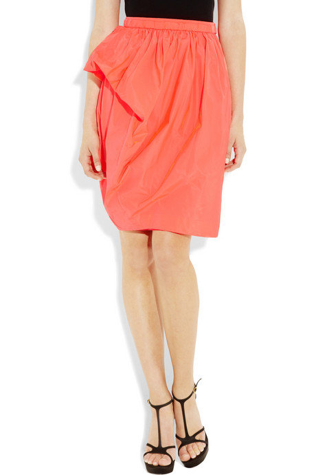 The slight peplum pop gives this skirt an extrafeminine flair.  Marc by Marc Jacobs Silk Taffeta Skirt ($280)