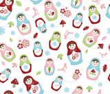 Spoonflower My Matryoshka Fabric (starting at $18 per yard)