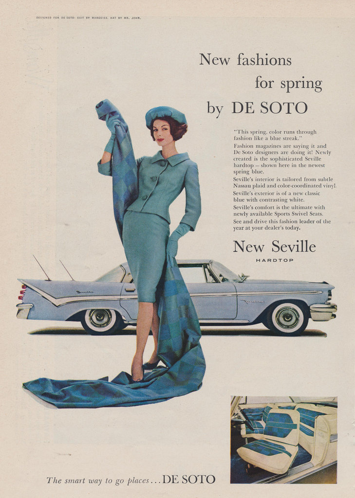 Even vintage cars dressed for Spring.