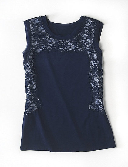 Alberta Ferretti for Macy's Impulse Navy Lace Sleeveless Top ($49)