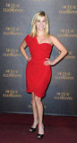 Reese Witherspoon in 2011 Red One-Shoulder Dress at Water For Elephants Paris Premiere