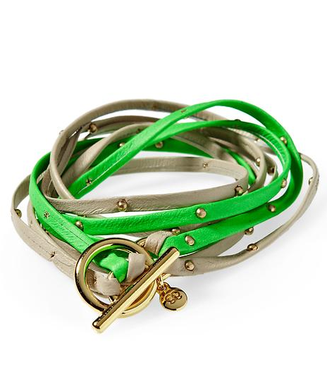 Stack your wrists with these smart two-tone leather wrap bracelets; the more, the merrier.  Gorjana Two-Tone Leather Triple Strand Wrap Bracelet ($61)