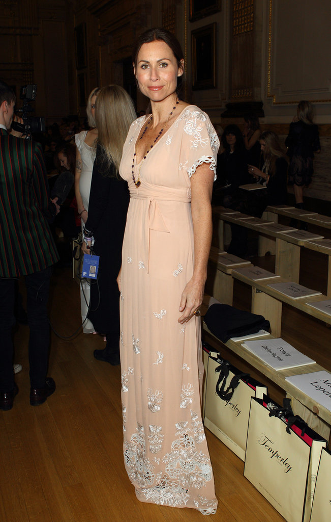 Minnie Driver looked lovely in a Temperley maxi dress last month.