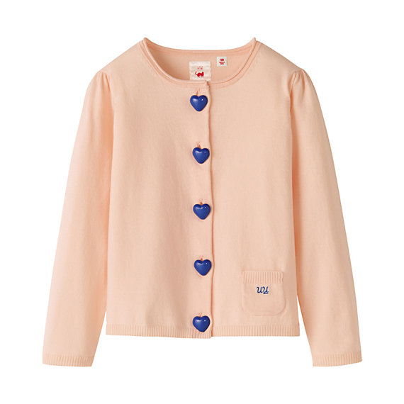 Heart-Button Cardigan ($40)