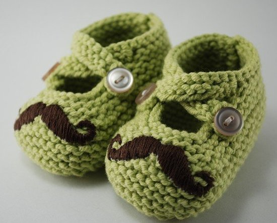 Pleasantly Plump Knits Mr. Mustache Booties