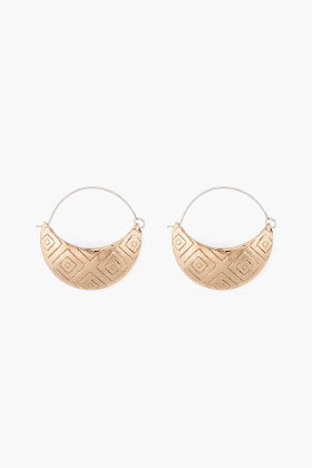 PAMELA LOVE Bronze Basket Earrings