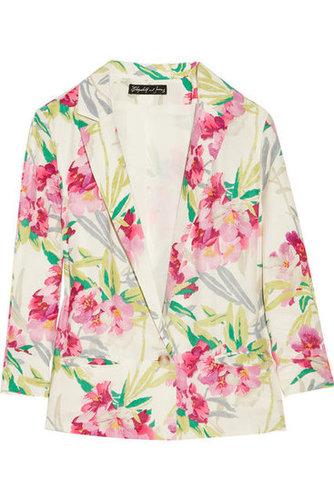 Elizabeth and James|Bruce floral-print silk jacket|NET-A-PORTER.COM