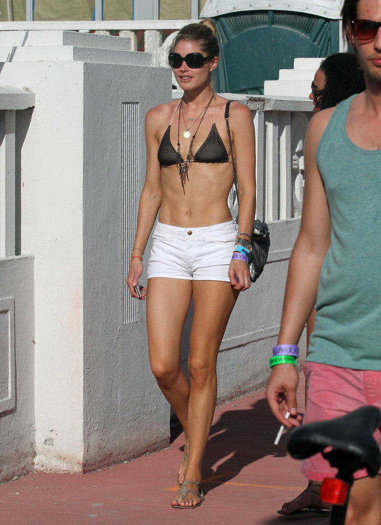 Doutzen Kroes wore a bikini out in Miami.