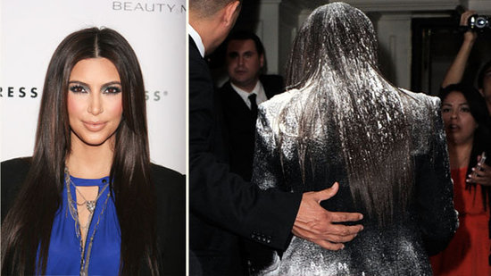 "Video: Kim Kardashian Brushes Off Flour-Bombing — ""I Needed More Powder!"""
