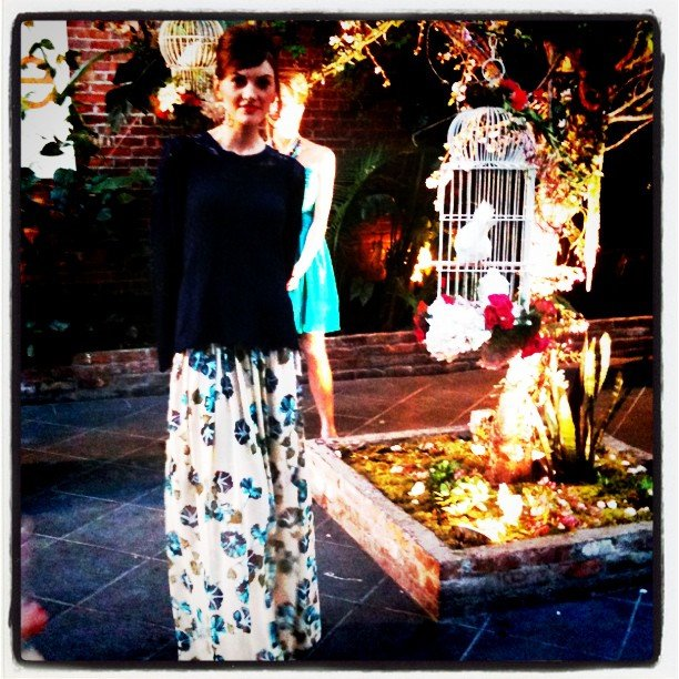 We were transported to a secret garden at Alberta Ferretti's Macy's preview.