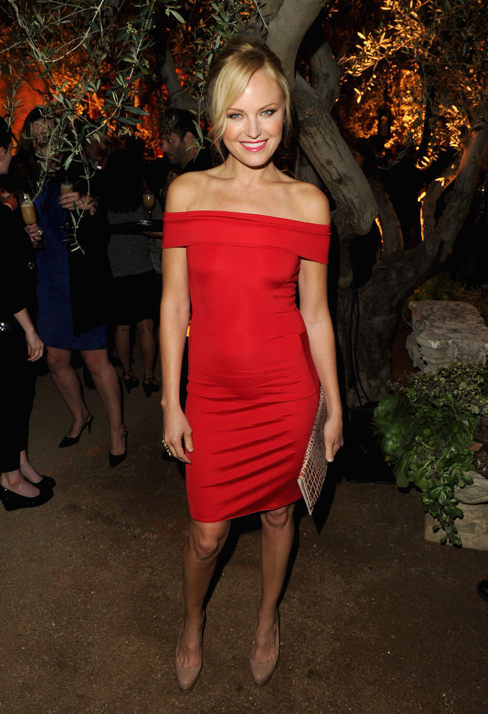 Malin Akerman showed off the perfect date-night dress.