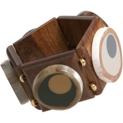 Marni Wood Squares Bracelet