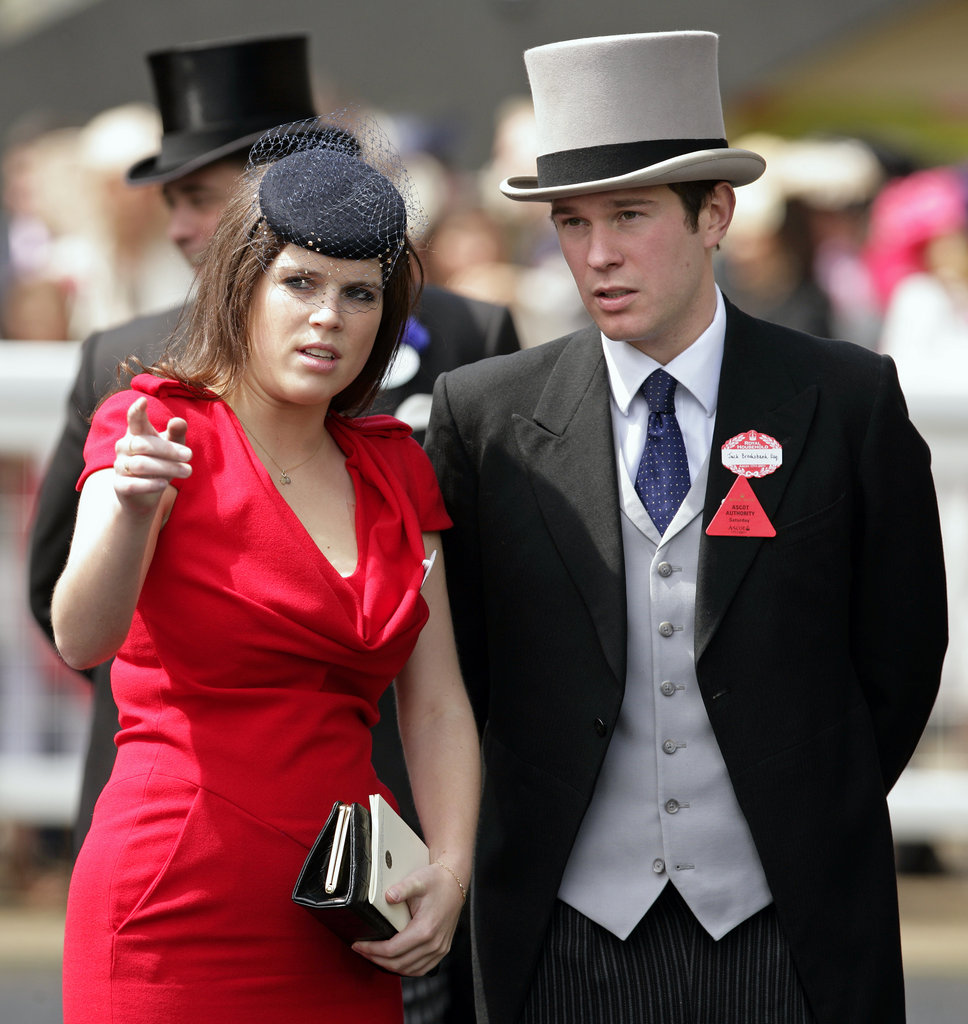 Princess Eugenie and Jack Brooksbank attend day five of Royal Ascot at Ascot Racecourse on June 18, 2011.