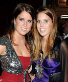 Eugenie sparkles with her sister last Summer.