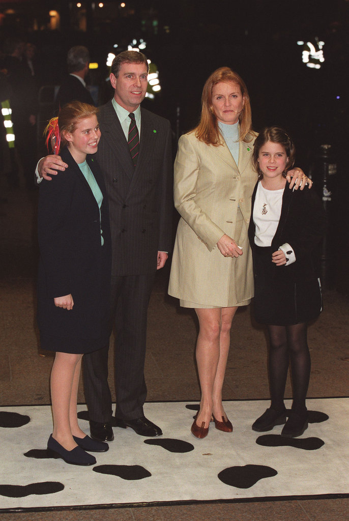 Eugenie has called her parents the healthiest divorced couples she knows. Here's the whole family out in London in 2000.