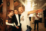 Director James Cameron, Leonardo DiCaprio, and Kate Winslet in Titanic.  Photo courtesy of Paramount Pictures