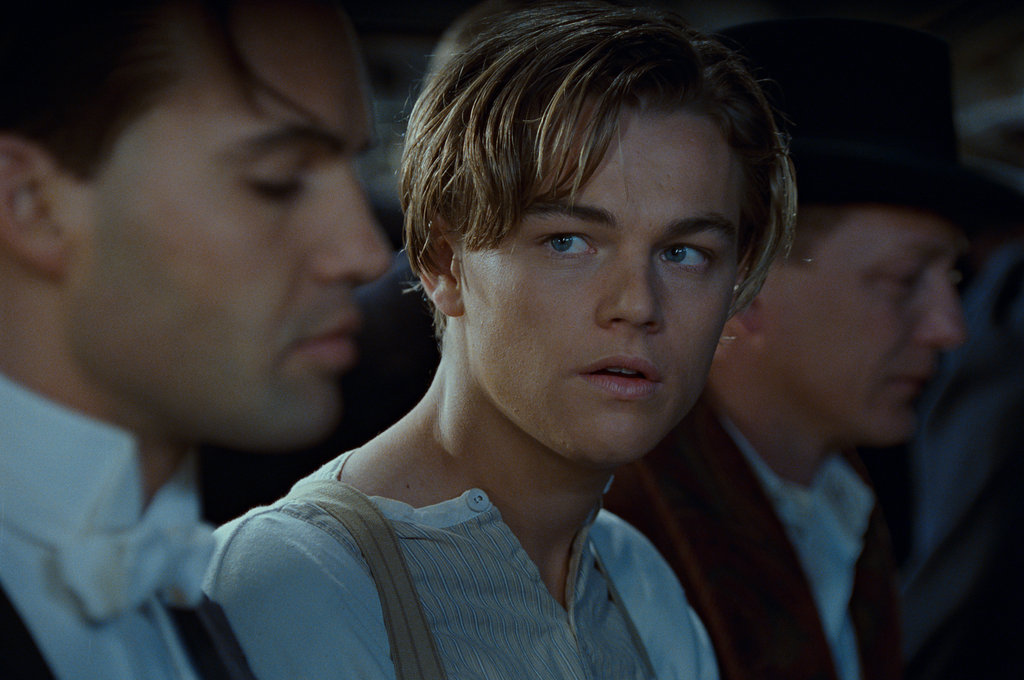 Billy Zane and Leonardo DiCaprio in Titanic.