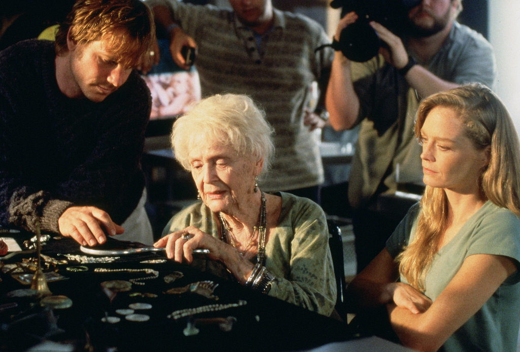 Bill Paxton, Gloria Stuart, and Suzy Amis in Titanic.