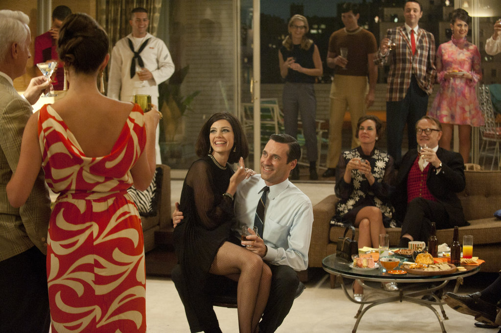 Jessica Paré as Megan Draper and Jon Hamm as Don Draper on Mad Men.  Photo courtesy of AMC
