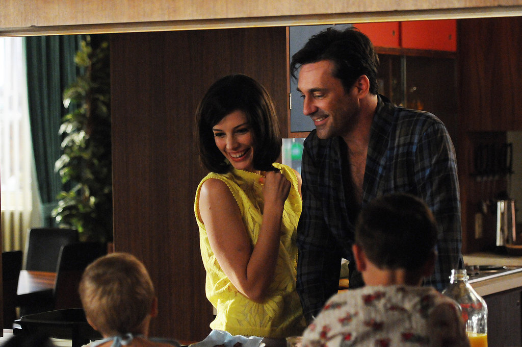 Jon Hamm as Don Draper and Jessica Paré as Megan Draper on Mad Men.  Photo courtesy of AMC