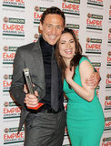 Tom Hiddleston and Hayley Atwell at the Jameson Empire Awards in London.