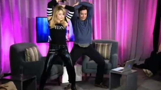 Video: Madonna Grinds With Jimmy Fallon, Performs Provocatively, and Talks Motherhood For MDNA