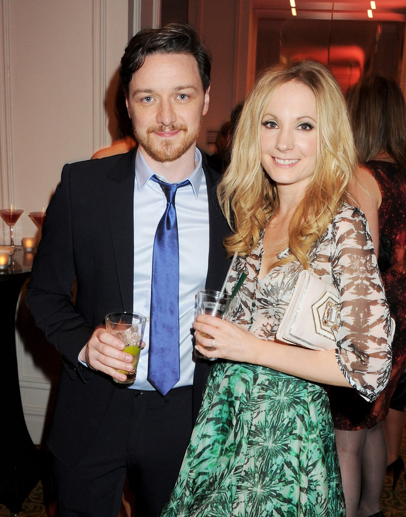 James McAvoy and Joanne Froggatt cozy up at the Jameson Empire Awards in London.