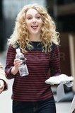AnnaSophia Robb showed off her signature Carrie curls on the set of The Carrie Diaries.
