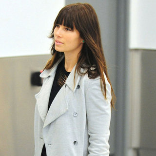 Jessica Biel Pictures With Engagement Ring at LAX
