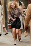 AnnaSophia Robb ran in heels on the set of The Carrie Diaries.