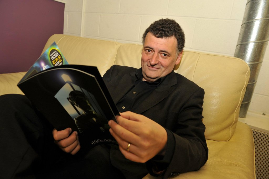 Head writer and executive producer Steven Moffatt enjoys the spectacle. Photo: Doctor Who Facebook, Alexandra Thompson