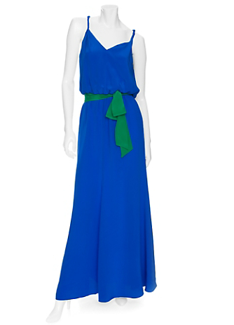 Jay Godfrey Maxi Dress With Colorblock Belt ($440)
