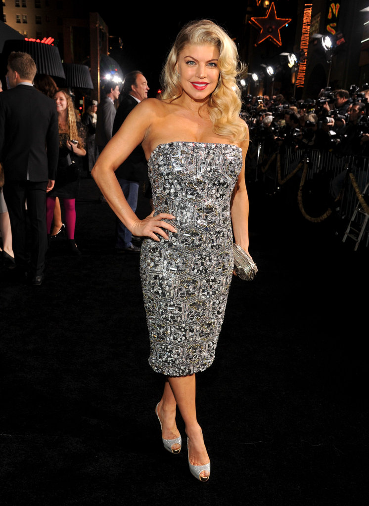 Fergie attended the 2011 premiere of New Year's Eve with husband Josh Duhamel, who was one of the film's stars. She channeled Marilyn Monroe in a sexy strapless crystal Monique Lhuillier dress, complete with red lipstick and a retro hairstyle.