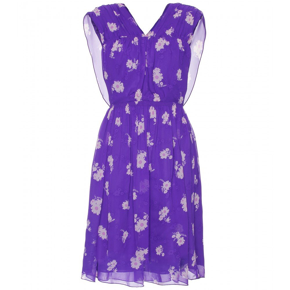 Anna Sui Floral Print Silk Dress ($619)