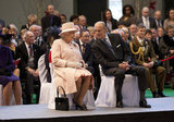 The queen and Prince Philip shared a moment.