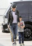 Gwen Stefani and Kingston Rossdale headed to gym class in LA.